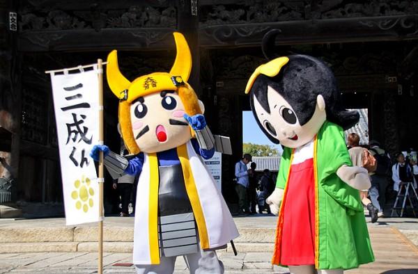 長浜・戦国大河ふるさと博のPRキャラクター 光成くんと茶々姫