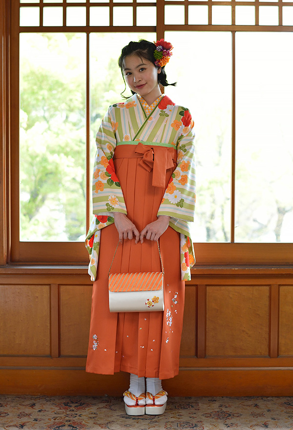 二尺袖と袴のセットレンタル